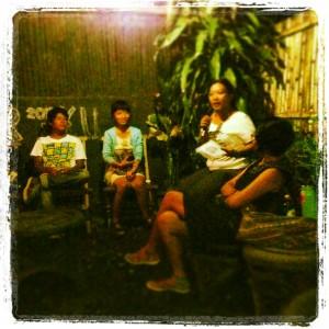"""Diskusi karya dan tema """"Jangan Diam"""" sama Taring Padi dan Ina Hudaya dari Samsara"""
