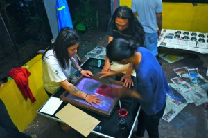 "Workshop Sablon ""Jangan Diam"""